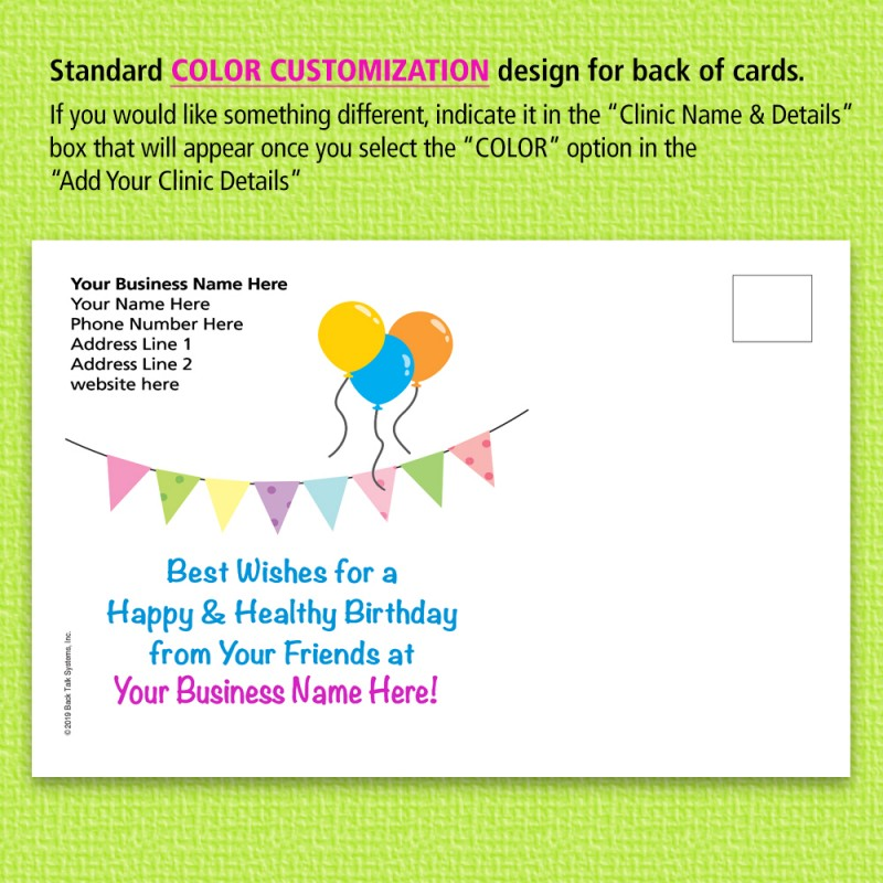 Pleasing Greeting Cards Related To Chiropractic Postcards For Chiropractors Personalised Birthday Cards Bromeletsinfo