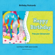 "Birthday Postcard - ""Spine/Candles"""