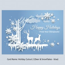 """Cutout Collection - """"2  - Deer & Snowflakes - Blue"""""""