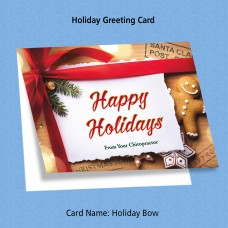 "Greeting Card - ""Holiday Bow"""