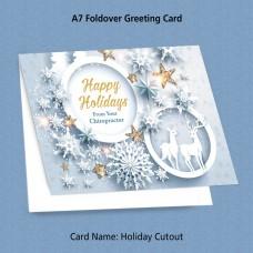 """Greeting Card - """"Holiday Cutout"""""""