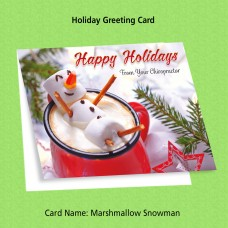 "Greeting Card - ""Marshmallow Snowman"""