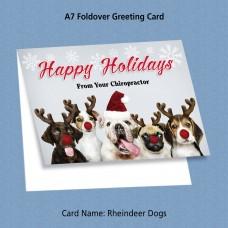 """Greeting Card - """"Rheindeer Dogs"""""""