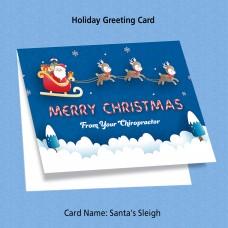"""Greeting Card - """"Santa's Sleigh"""""""