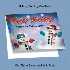 "Greeting Card - ""Snowmen Pair in Mitts"""