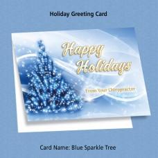 "Greeting Card - ""Blue Sparkle Tree"""