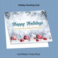 """Greeting Card - """"Frosty Pines"""""""
