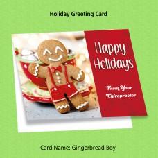 """Greeting Card - """"Gingerbread Boy"""""""